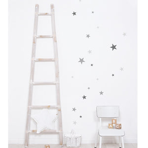 Grey Stars Wall Sticker by Lilipinso - minifili