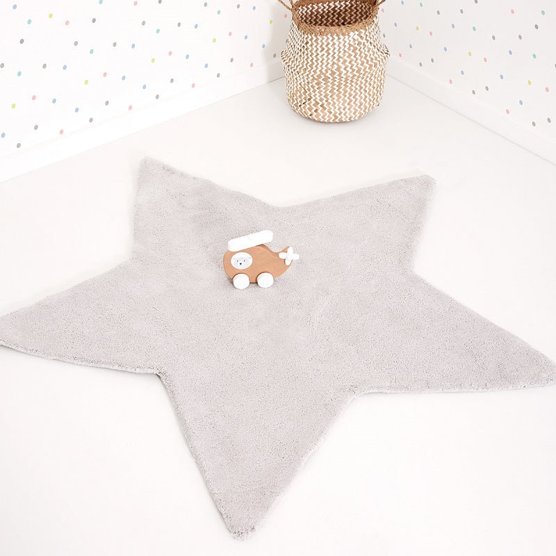Lilipinso - Star Rug Grey