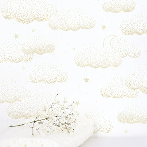 Clouds Wallpaper Gold by Lilipinso - minifili