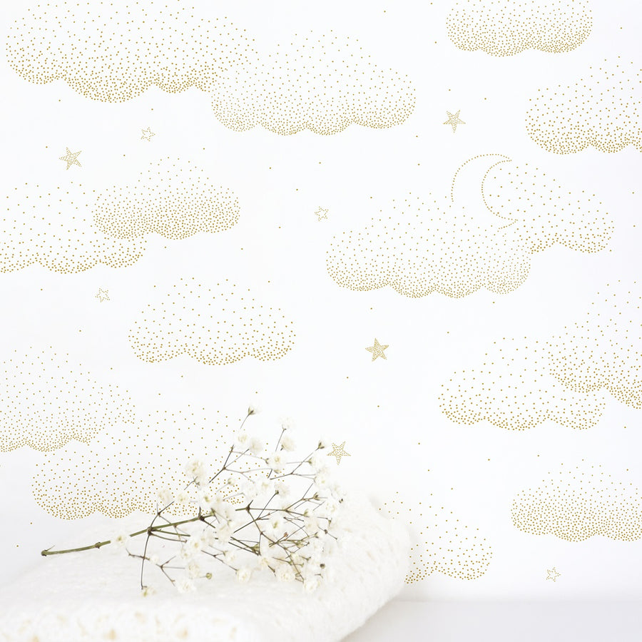 Clouds Wallpaper Gold