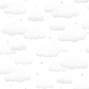Clouds Wallpaper Grey