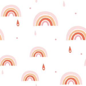 Rainbows Wallpaper Pink by Lilipinso - minifili