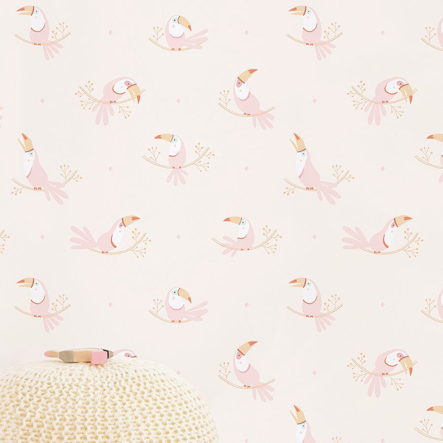 Toucans Wallpaper Pink by Lilipinso - minifili