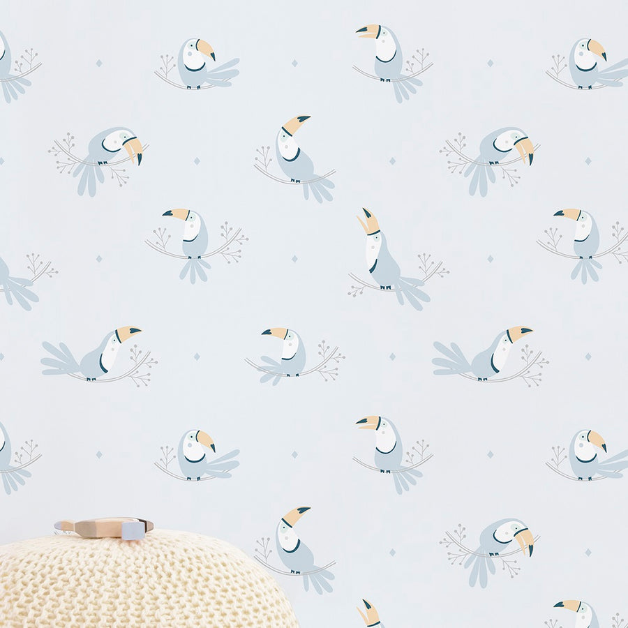 Toucans Wallpaper Blue by Lilipinso - minifili