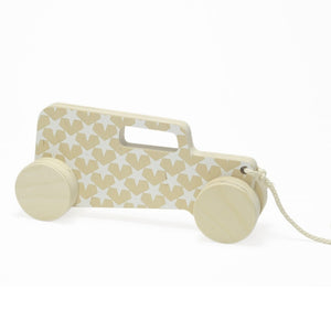 Hot-rod Sedan Pull-Toy White by Studio delle Alpi - minifili