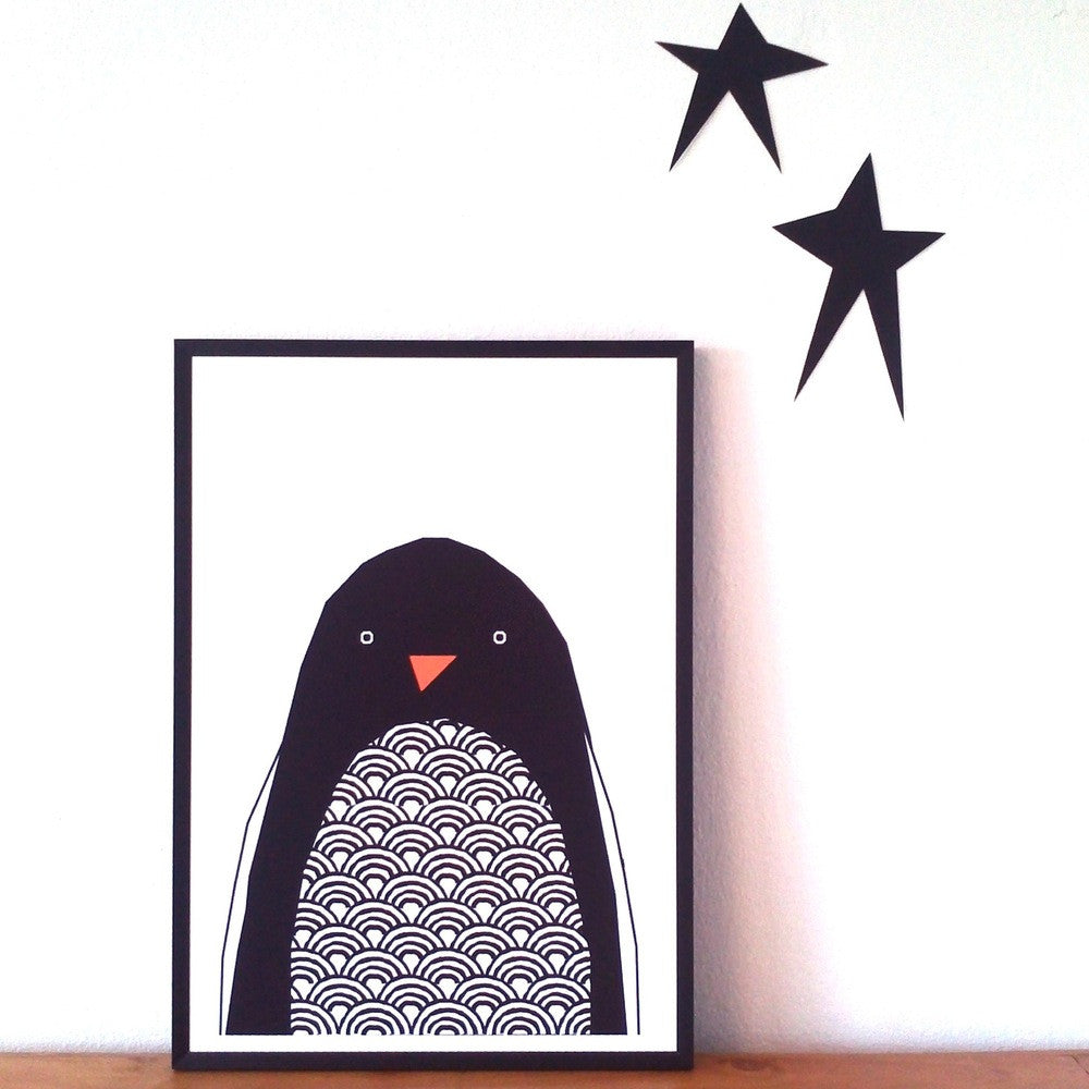 Ingrid Petrie Design - Hello Penguin Print
