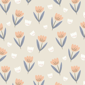Fleur Wallpaper Peach by Hibou Home - minifili