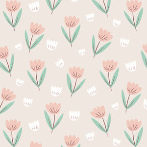Fleur Wallpaper Summer Pink by Hibou Home - minifili