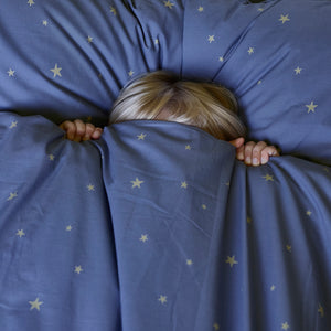 Starry Sky Bedding Set Indigo by Hibou Home - minifili