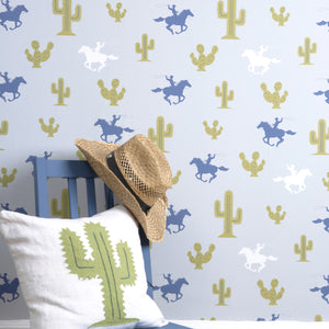 Cactus Cowboy Wallpaper by Hibou Home - minifili