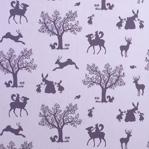 Enchanted Wood Wallpaper Lilac by Hibou Home - minifili