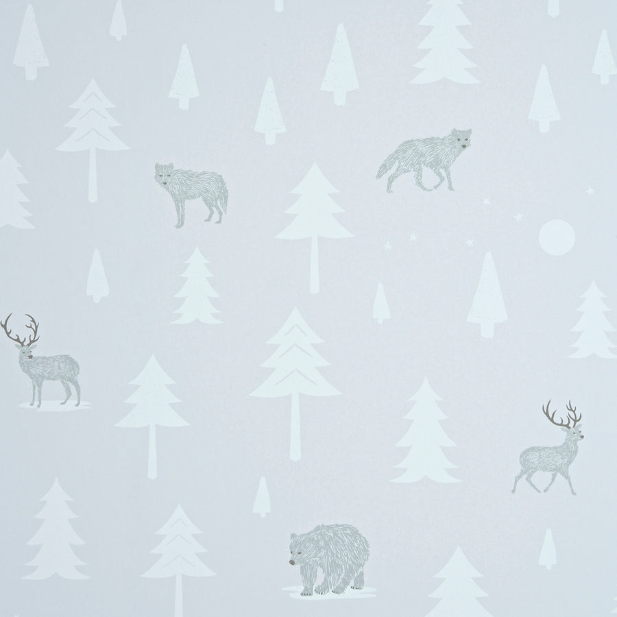 Into the Wild Wallpaper Taupe by Hibou Home - minifili