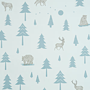 Into the Wild Wallpaper Grey by Hibou Home - minifili