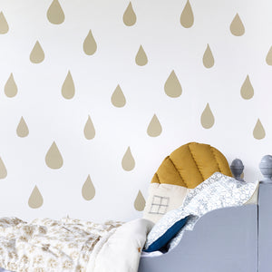 Raindrops Wallpaper Gold by Hibou Home - minifili