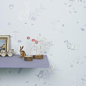Secret Garden Wallpaper Moonbeam by Hibou Home - minifili
