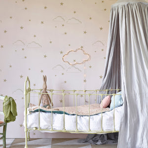 Starry Sky Wallpaper Pale Rose by Hibou Home - minifili
