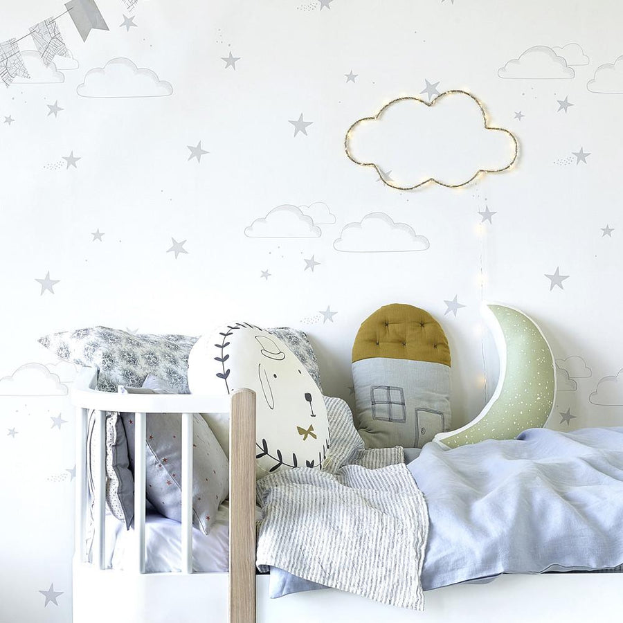 Starry Sky Wallpaper Silver by Hibou Home - minifili