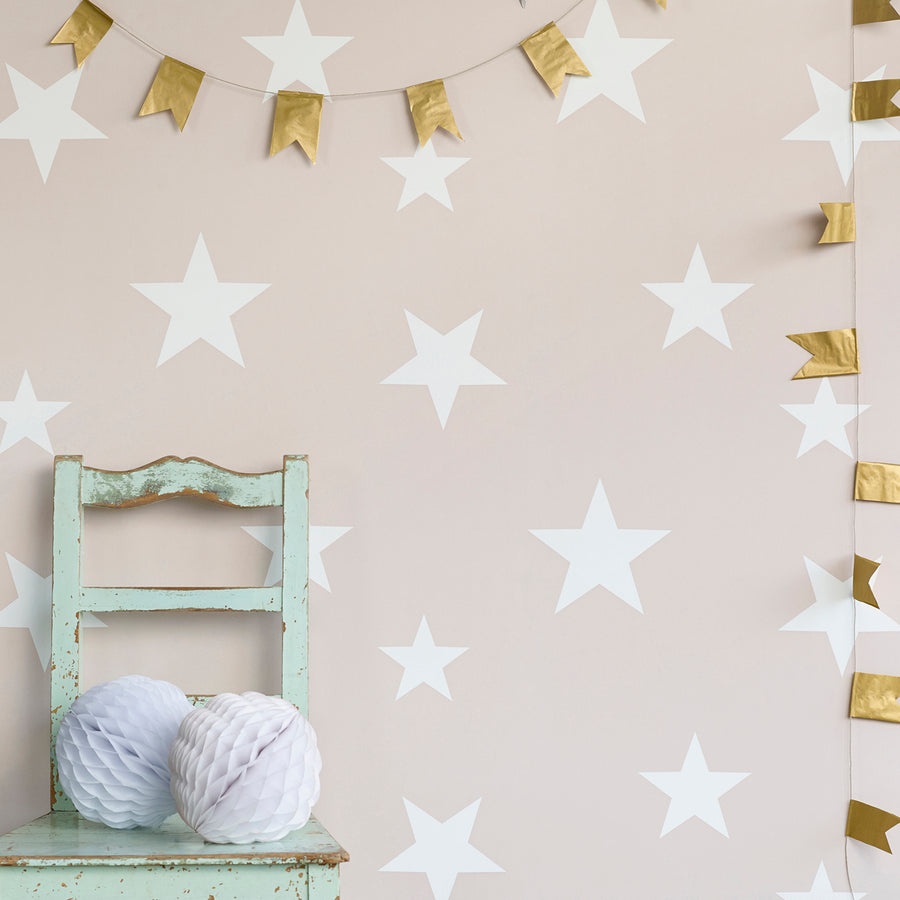 Stars Wallpaper Blush by Hibou Home - minifili