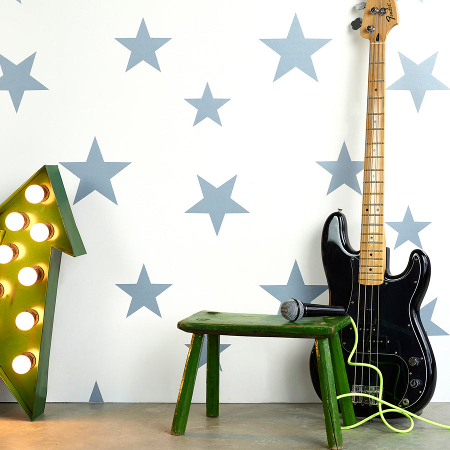 Stars Wallpaper Stellar Blue by Hibou Home - minifili