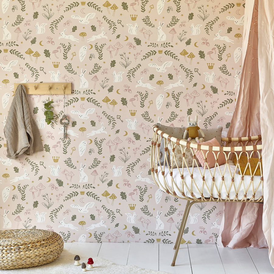Woodland Wonders Wallpaper by Hibou Home - minifili