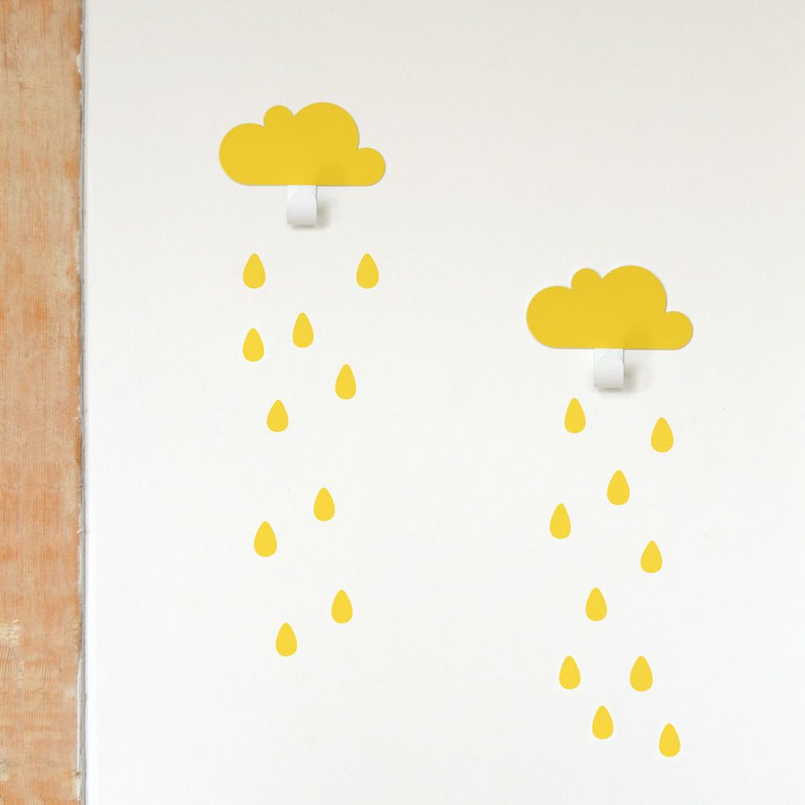 Cloud Hook Yellow (set of 2) by Tresxics - minifili