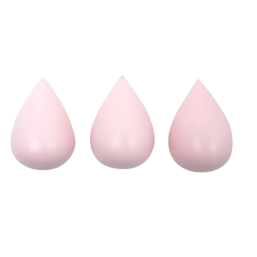 Raindrop Hooks (set of 3) Light Pink by Rose in April - minifili