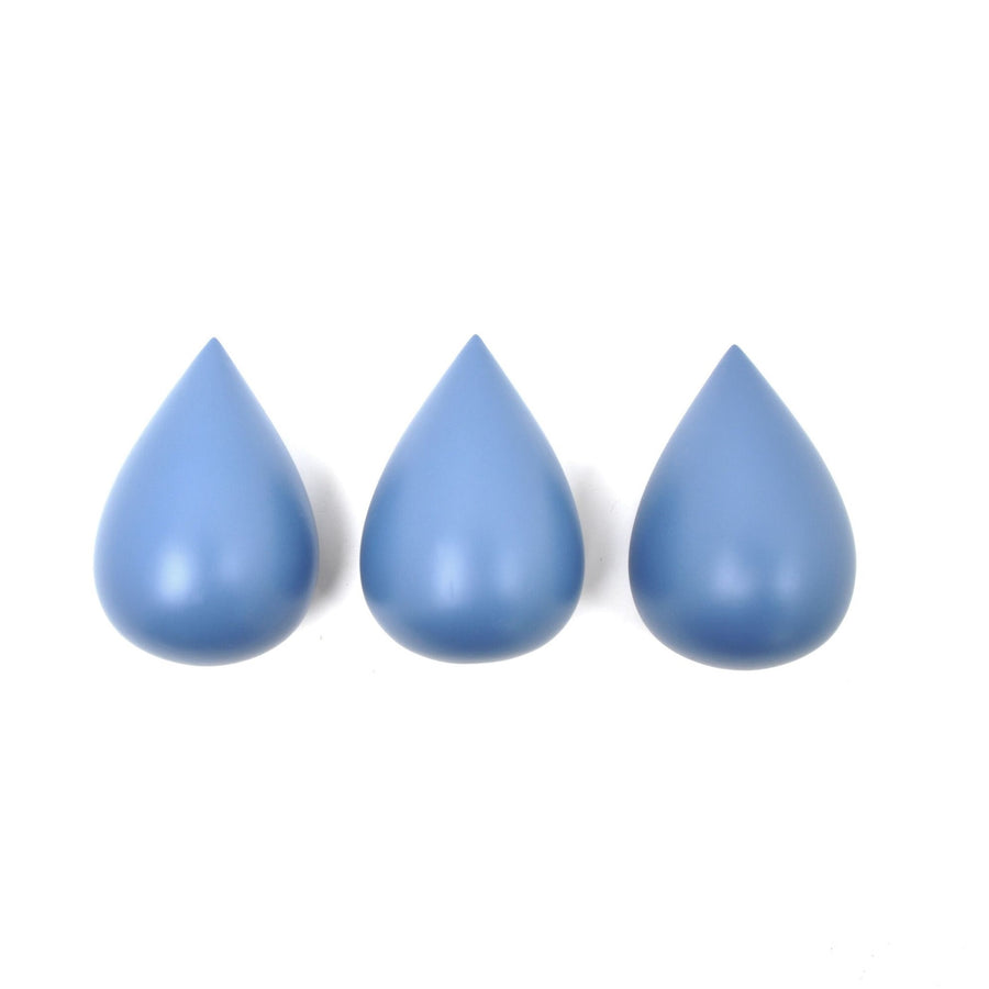 Raindrop Hooks (set of 3) Paradise Blue by Rose in April - minifili