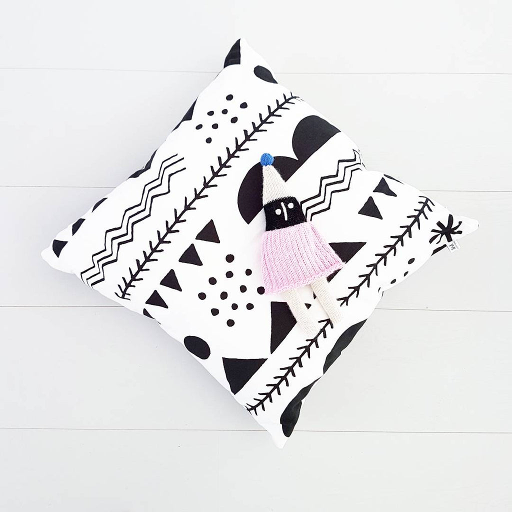 Anny Who - Black Shapes Cushion