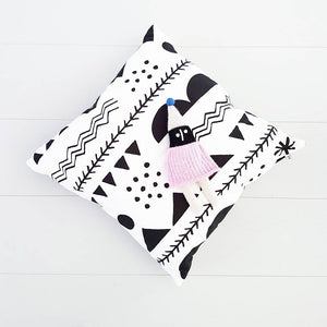 Black Shapes Cushion by Anny Who - minifili