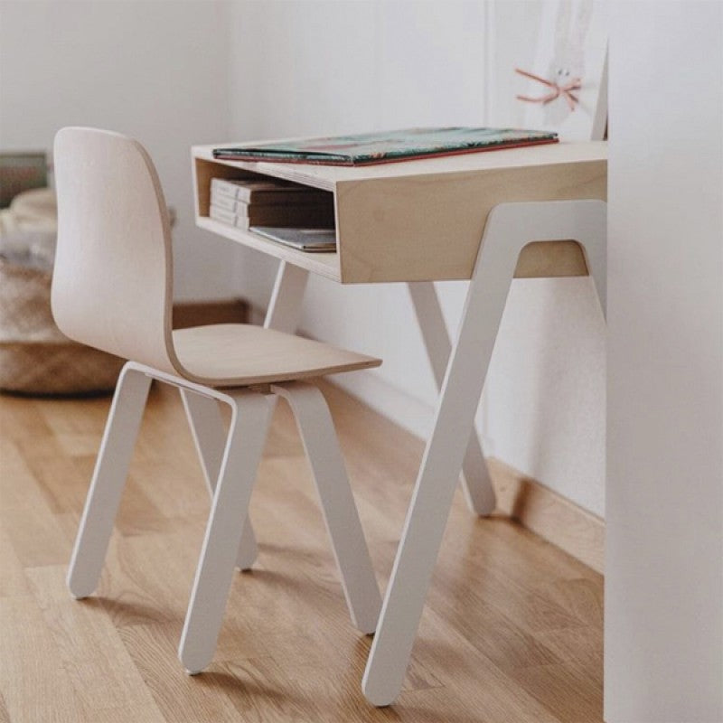 Kids Desk & Chair Large White by In2Wood - minifili