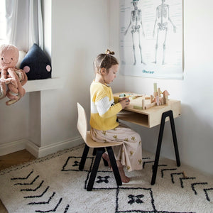Kids Desk & Chair Large Black by In2Wood - minifili