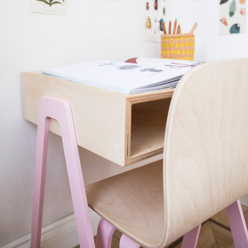 Kids Desk & Chair Small Pink by In2Wood - minifili
