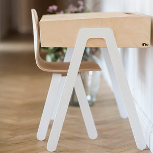 Kids Desk & Chair Small White by In2Wood - minifili