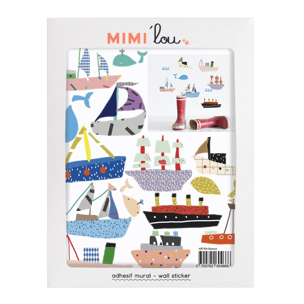 MIMI'lou - Just a Touch - Boats Wall Sticker