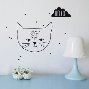 Just a Touch - Hello Cat Wall Sticker by MIMI'lou - minifili