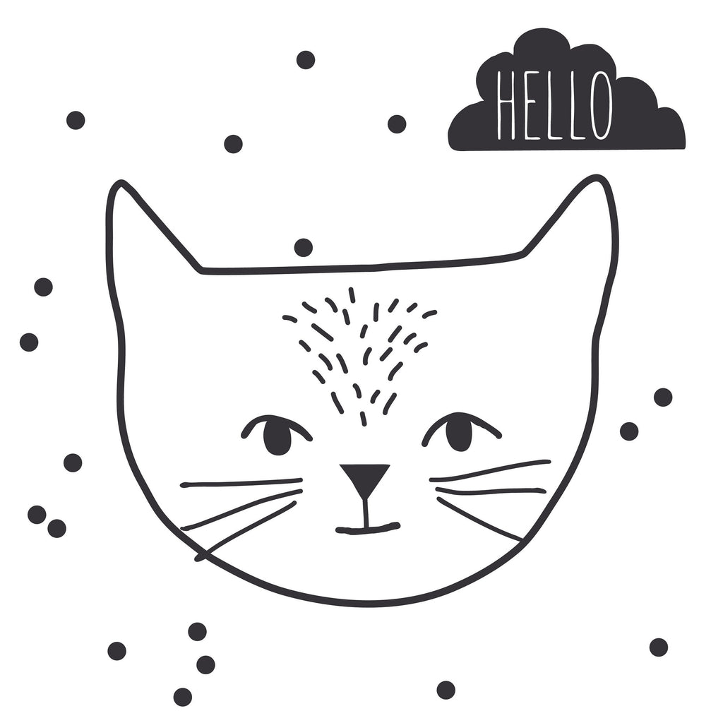 MIMI'lou - Just a Touch - Hello Cat Wall Sticker