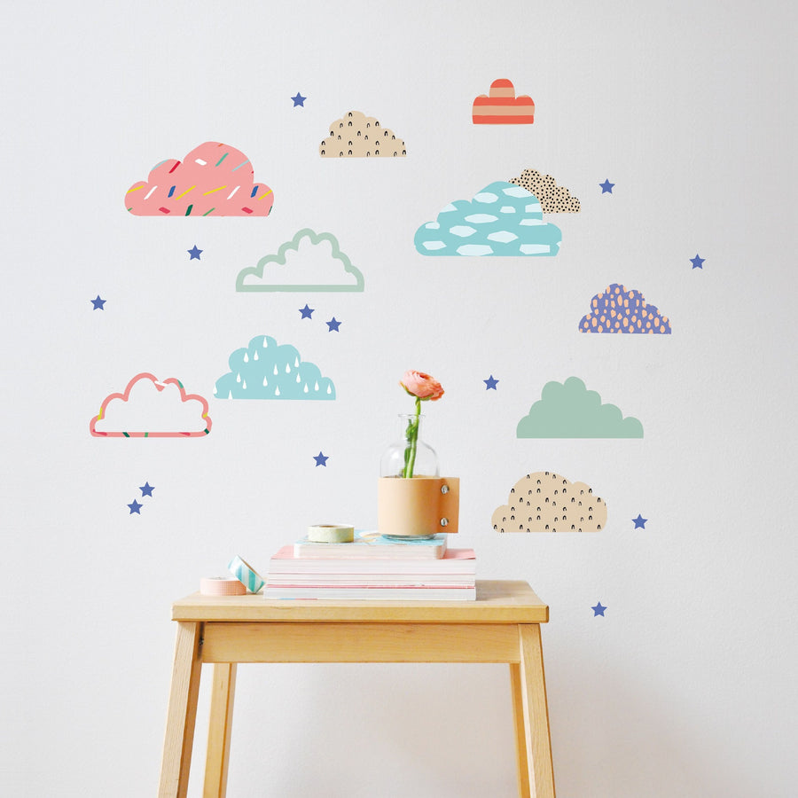Just a Touch - Cloudy Wall Sticker by MIMI'lou - minifili