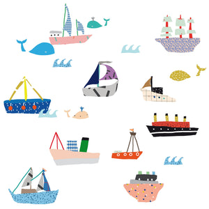 Just a Touch - Boats Wall Sticker by MIMI'lou - minifili