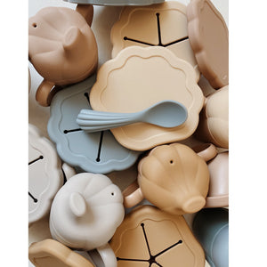 Silicone Clam Set Ochre by Konges Slojd - minifili