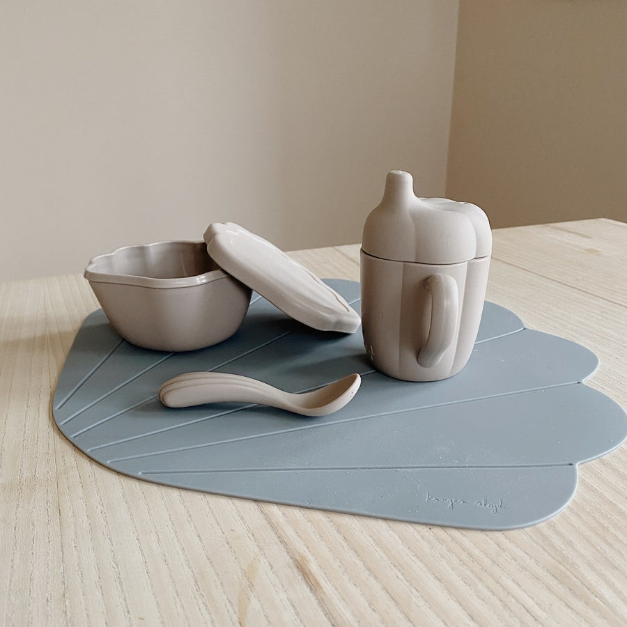 Silicone Clam Set Warm Grey by Konges Slojd - minifili