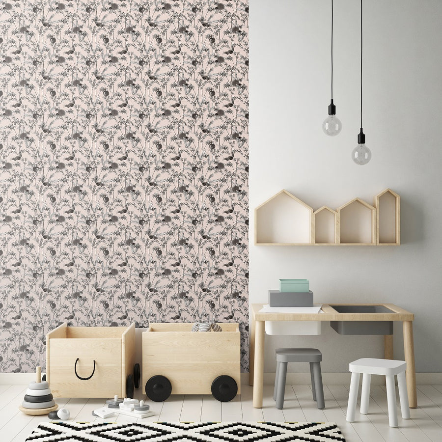 Woodland Wallpaper Rose by Fox and Roses - minifili