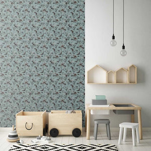 Woodland Wallpaper Moss by Fox and Roses - minifili