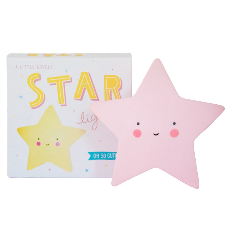 Star Night Light Pink by A Little Lovely Company - minifili