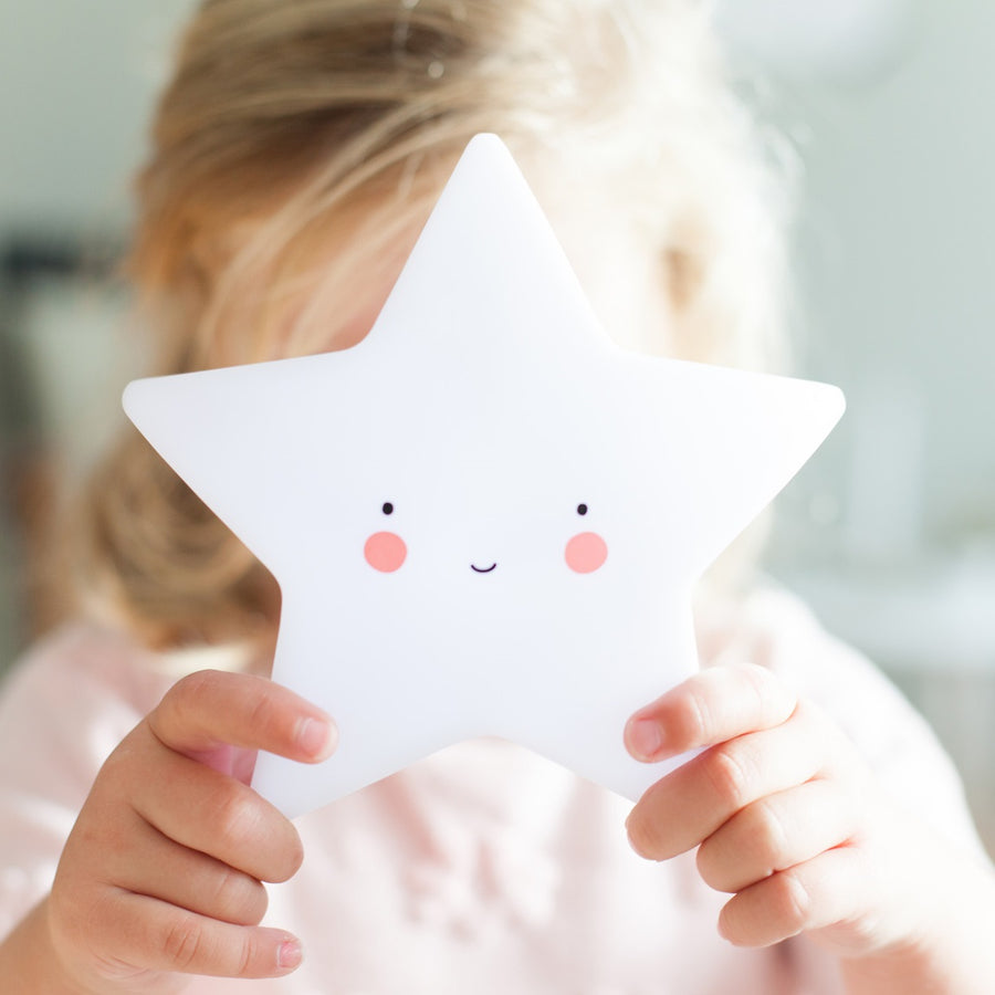 Star Night Light White by A Little Lovely Company - minifili