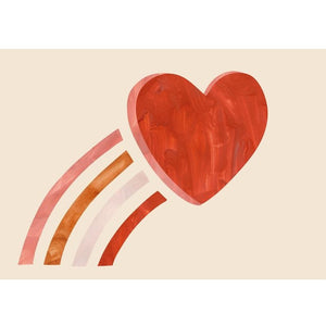 Love Heart Blush Print by Kid of the Village - minifili