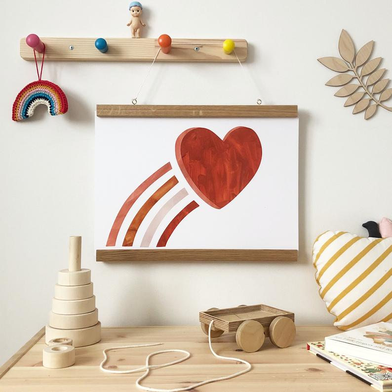 Love Heart Print by Kid of the Village - minifili