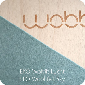 Wobbel Original Transparent Lacquer Sky Blue Felt by Wobbel - minifili