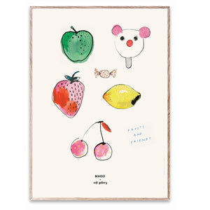 Fruits and Friends Print by MADO - minifili