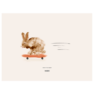 Rocky the Rabbit Print by MADO - minifili