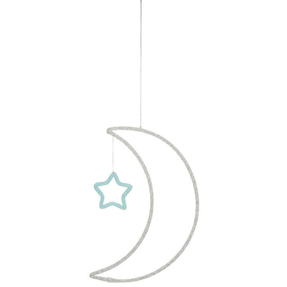 Moon and Star Wall Decoration